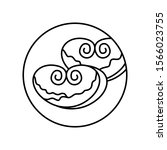 bun heart food bakery in circle ...