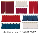 japanese red and blue shop... | Shutterstock .eps vector #1566026542