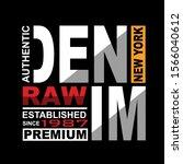 raw denim lettering typography... | Shutterstock .eps vector #1566040612