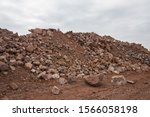 a close up of the spoil heap in ... | Shutterstock . vector #1566058198