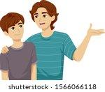 illustration of a teenage guy...   Shutterstock .eps vector #1566066118
