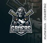 gamer mascot logo design vector ... | Shutterstock .eps vector #1566089362