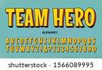 a comic superhero font. team... | Shutterstock .eps vector #1566089995