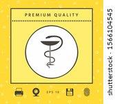 pharmacy symbol medical snake... | Shutterstock .eps vector #1566104545