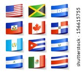 world flags. north america.... | Shutterstock .eps vector #156615755