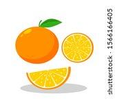 fresh orange fruit vector...   Shutterstock .eps vector #1566166405