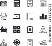 office vector icon set such as  ... | Shutterstock .eps vector #1566172735