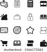 shopping vector icon set such... | Shutterstock .eps vector #1566173362