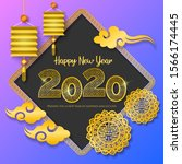 new year 2020 illustration with ... | Shutterstock .eps vector #1566174445