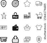 shopping vector icon set such... | Shutterstock .eps vector #1566174685