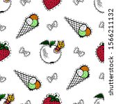 kids  cartoon seamless pattern. ... | Shutterstock . vector #1566211132