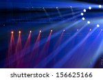 stage spotlight with laser rays | Shutterstock . vector #156625166