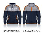 hoodie shirts template.jacket... | Shutterstock .eps vector #1566252778