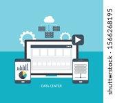 data center cloud computer... | Shutterstock .eps vector #1566268195