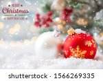 christmas background greeting... | Shutterstock . vector #1566269335