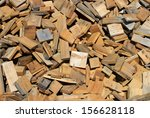 pile of small pieces of scrap... | Shutterstock . vector #156628118