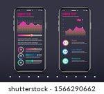 infographic mobile template ... | Shutterstock .eps vector #1566290662