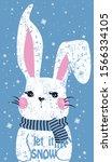Let It Snow Little Bunny Vector ...