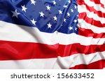 closeup of american flag | Shutterstock . vector #156633452