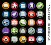 vector icon set for web or... | Shutterstock .eps vector #156634472
