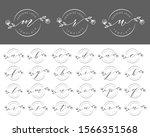 set alphabet of feminine logo... | Shutterstock .eps vector #1566351568