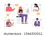vector trendy illustration a... | Shutterstock .eps vector #1566352012