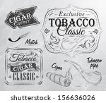 set of tobacco and smoking... | Shutterstock .eps vector #156636026