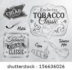 Set Of Tobacco And Smoking...