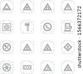 16 icon set of road signs for...   Shutterstock .eps vector #1566372172
