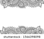 stylized with henna tattoos...   Shutterstock .eps vector #1566398098