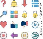16 icon set of basic elements...