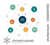 crowdfunding colored circle...