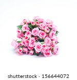 Stock photo bouquet of pink rose flowers isolated on white 156644072