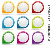 colorful round button collection | Shutterstock .eps vector #156645275