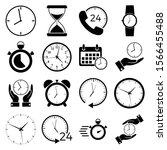 clock and time icon  logo...