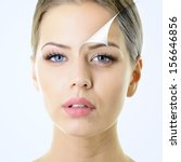 anti aging concept  portrait of ... | Shutterstock . vector #156646856