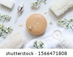 natural soap bars w  essential... | Shutterstock . vector #1566471808