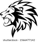 lion design conceptual black...   Shutterstock .eps vector #1566477142