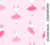 bunny ballerina hand drawing...   Shutterstock .eps vector #1566485398