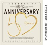 50 years anniversary background | Shutterstock .eps vector #156652115