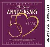 50 years anniversary background | Shutterstock .eps vector #156652118
