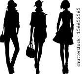 vector set 1 silhouette of...   Shutterstock .eps vector #156652565