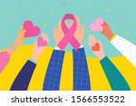 world aids day concept. hands... | Shutterstock .eps vector #1566553522
