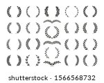 set of different black and... | Shutterstock .eps vector #1566568732