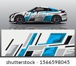 sport car decal wrap design... | Shutterstock .eps vector #1566598045