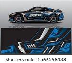 sport car decal wrap design... | Shutterstock .eps vector #1566598138