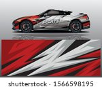 sport car decal wrap design... | Shutterstock .eps vector #1566598195