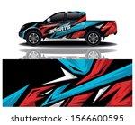 truck car decal wrap design...   Shutterstock .eps vector #1566600595