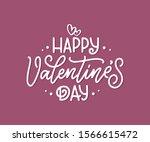valentine's day lettering for...   Shutterstock .eps vector #1566615472