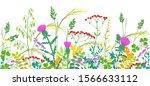 seamless line horizontal border ... | Shutterstock .eps vector #1566633112